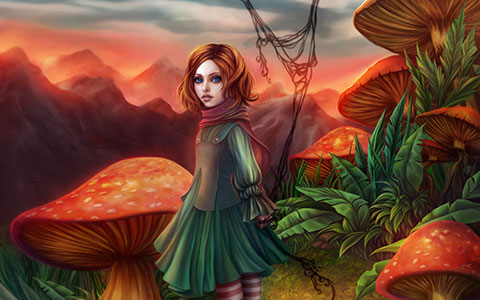 Gracjana Zielinska desktop wallpaper or background Mushroom Hideout