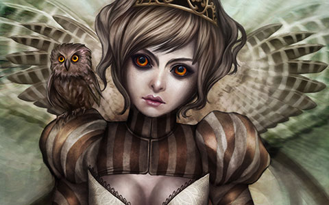 Gracjana Zielinska desktop wallpaper or background The Owl Princess