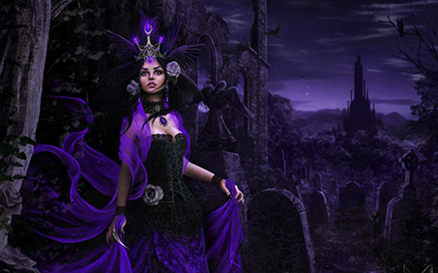 Tanya Varga desktop wallpaper or background Dark Sorceress