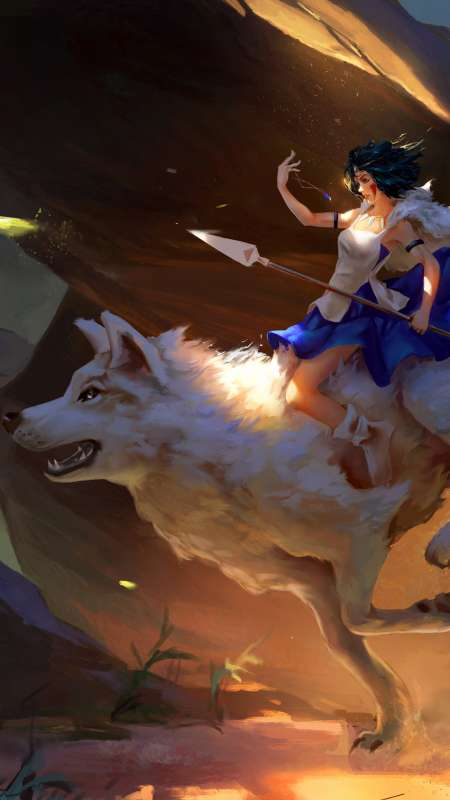 Prinses Mononoke Mobile Vertical wallpaper