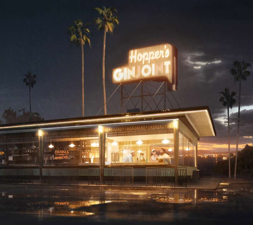 Hopper's Ginjoint Mobile Horizontal wallpaper