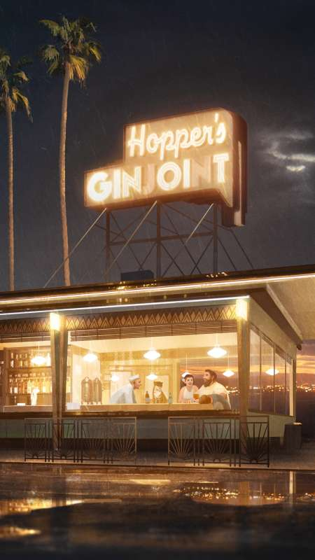 Hopper's Ginjoint Mobile Vertical wallpaper