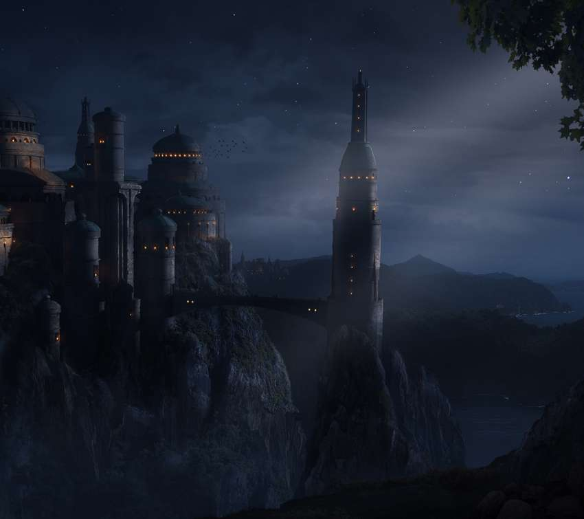 Night Castle wallpaper or background