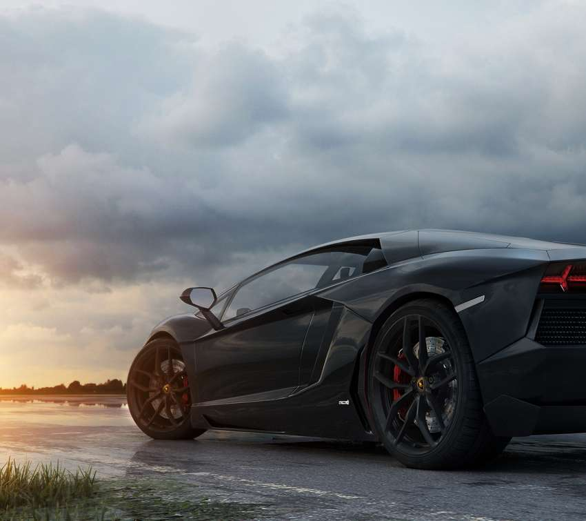 The Black Aventador wallpaper or background