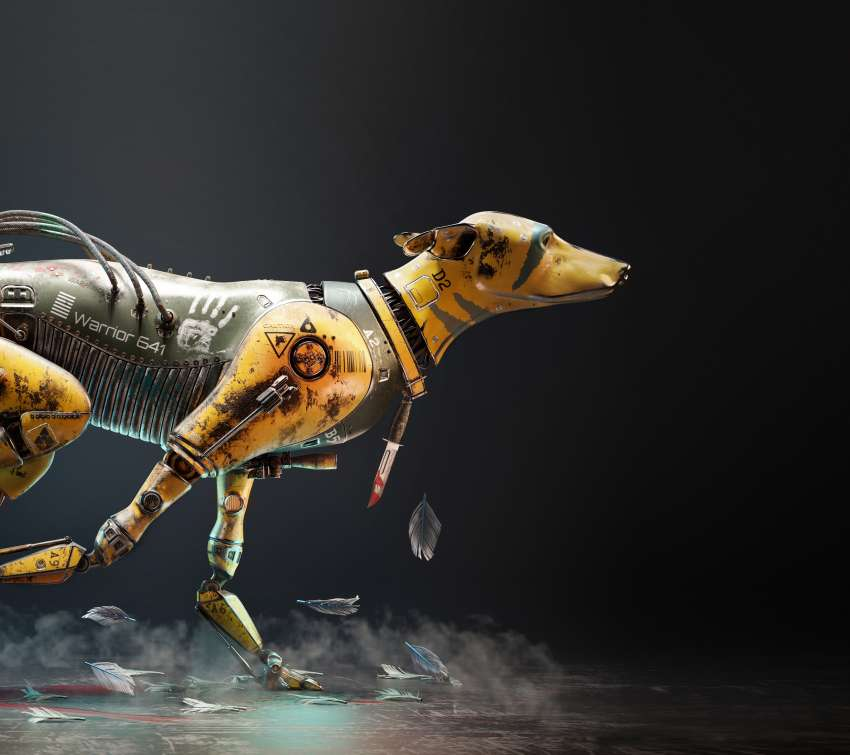 Warrior Dog 641 Mobile Horizontal wallpaper