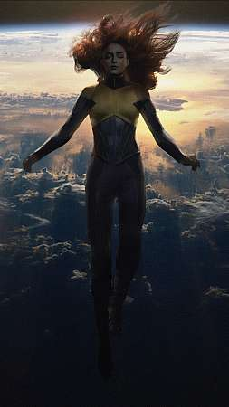 X-Men Dark Phoenix - Unconscious in Space Mobile Vertical wallpaper