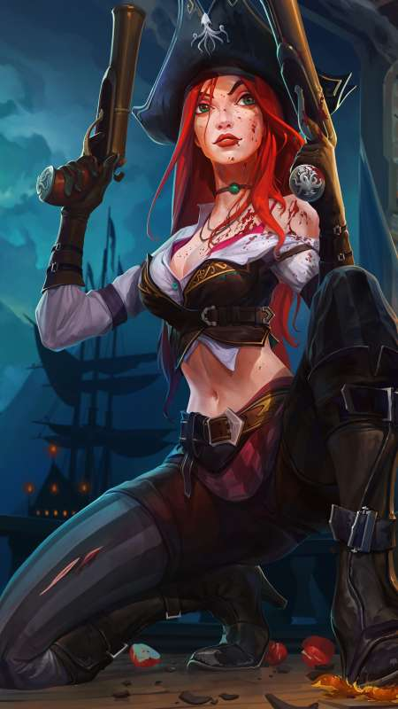 Miss Fortune fan art Mobile Vertical wallpaper