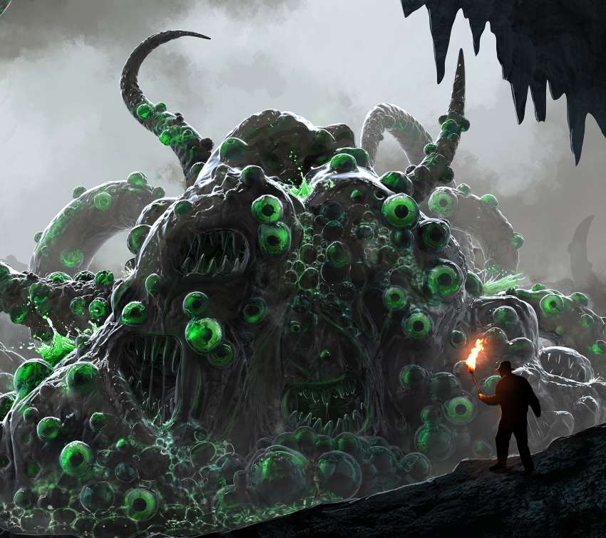 Lovecraft's Shoggoth Mobile Horizontal wallpaper