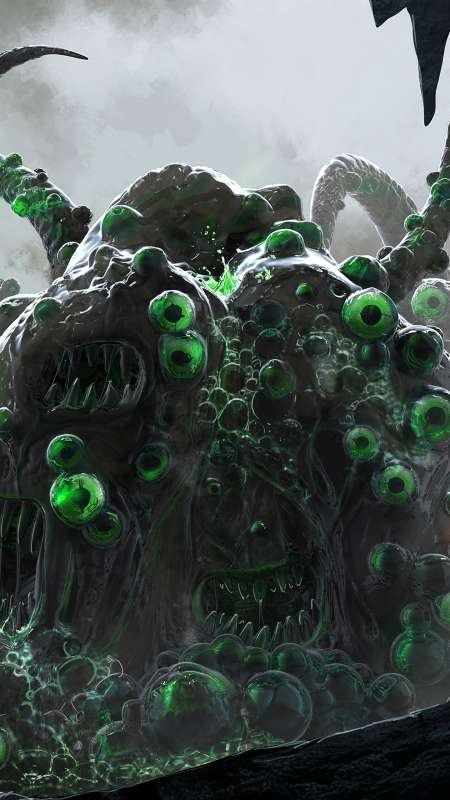 Lovecraft's Shoggoth Mobile Vertical wallpaper