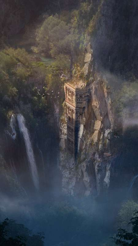 Solitary tower Mobile Vertical wallpaper