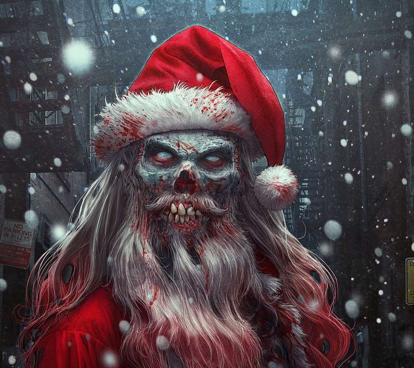 Zombie Claus wallpaper or background