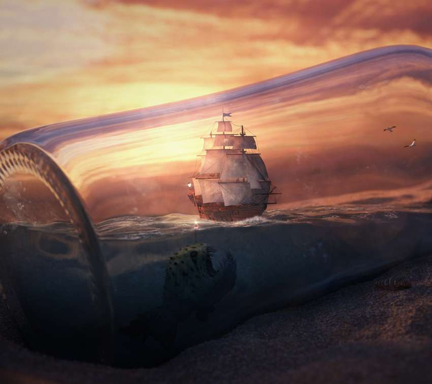 Ship in a Bottle wallpaper or background
