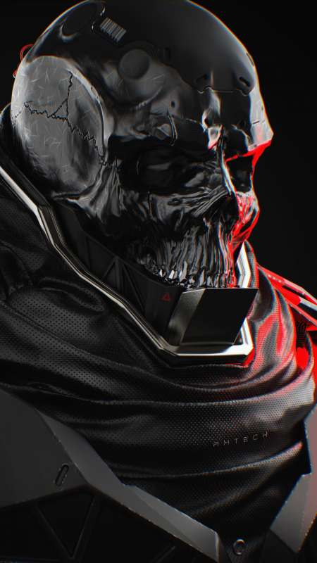 Skull Cyborg | Type 4.2 // AxTECH - serious Mobile Vertical wallpaper