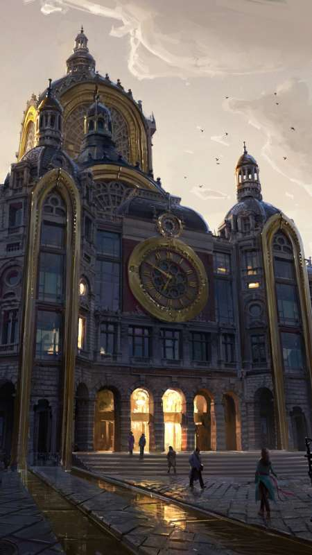 Europa Town Hall Mobile Vertical wallpaper
