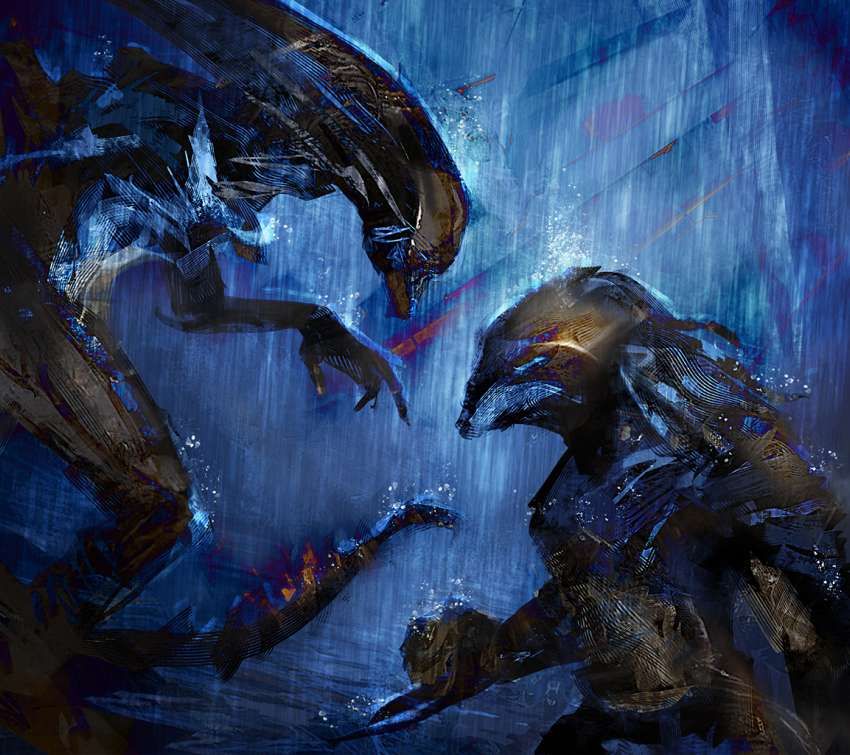 Alien vs Predator Mobile Horizontal wallpaper
