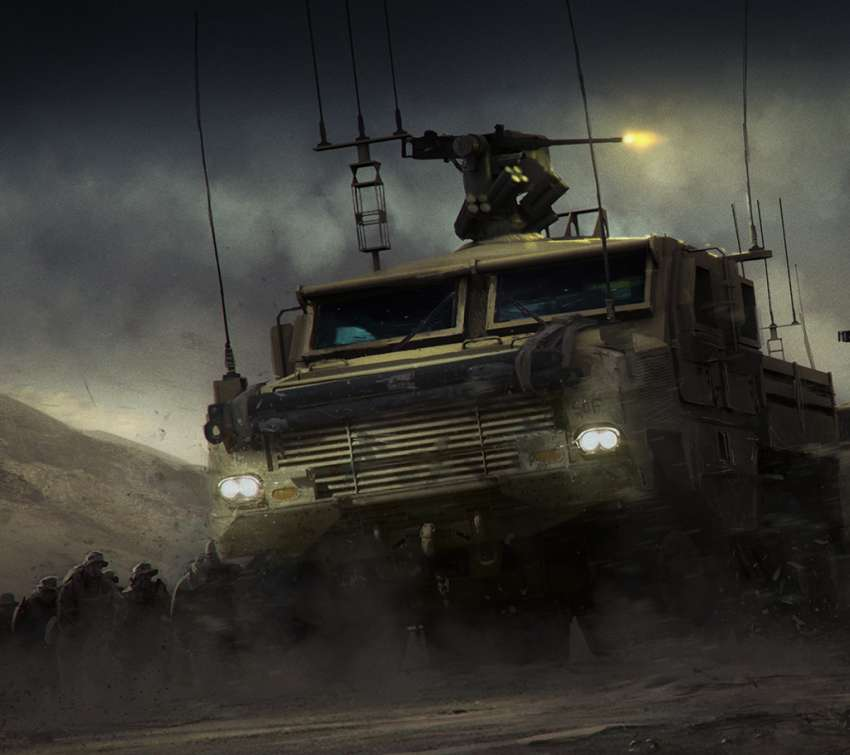 Covering Fire Mobile Horizontal wallpaper
