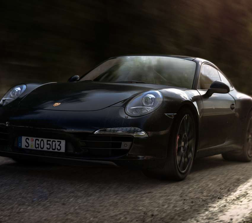 Porsche Carrera S - Black wallpaper or background