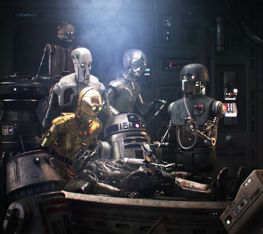 Star Wars meets Rembrandt Mobile Horizontal wallpaper