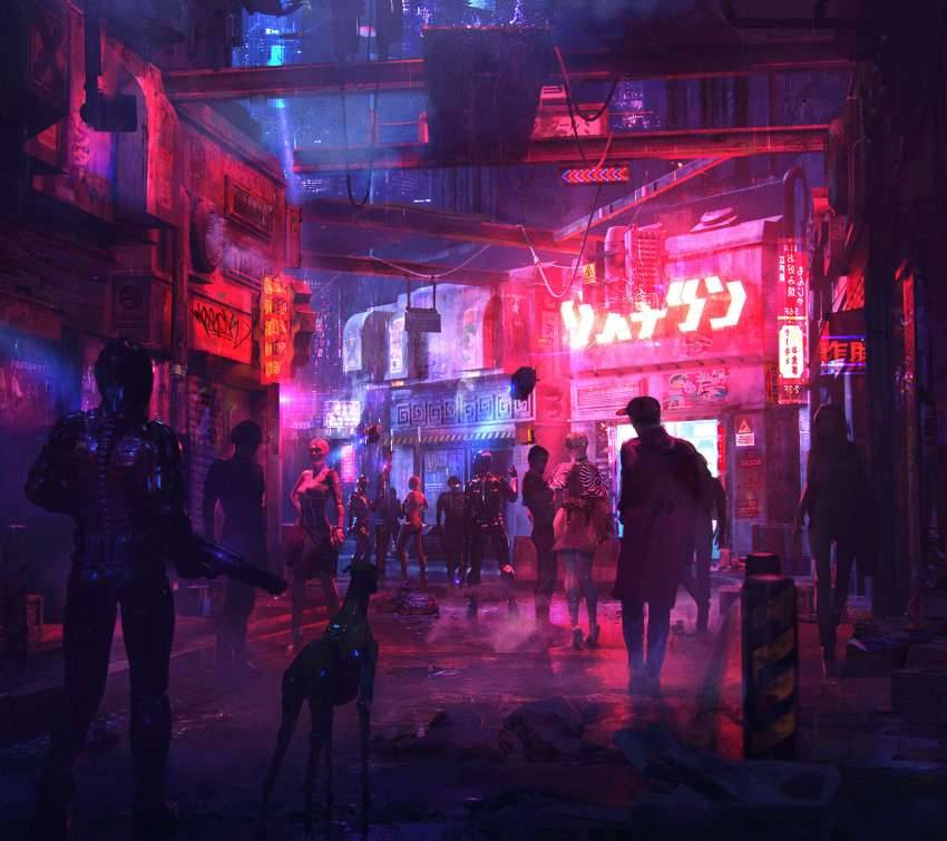 Cyberpunk Street 02 Mobile Horizontal wallpaper