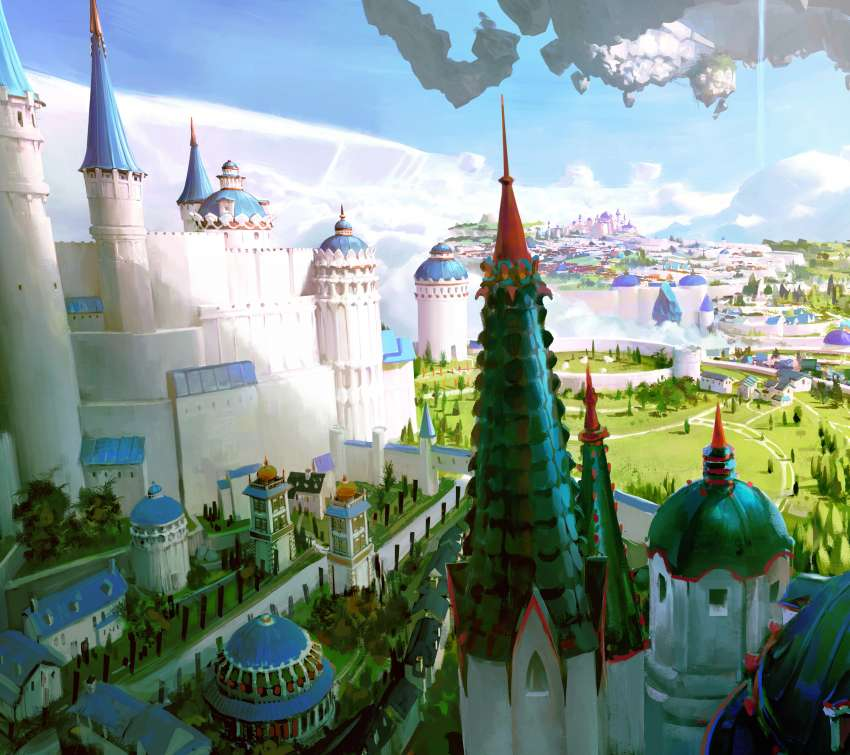 Floating Castle 2 wallpaper or background