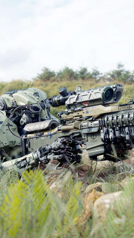 Mechanised Ballistics Mobile Vertical wallpaper