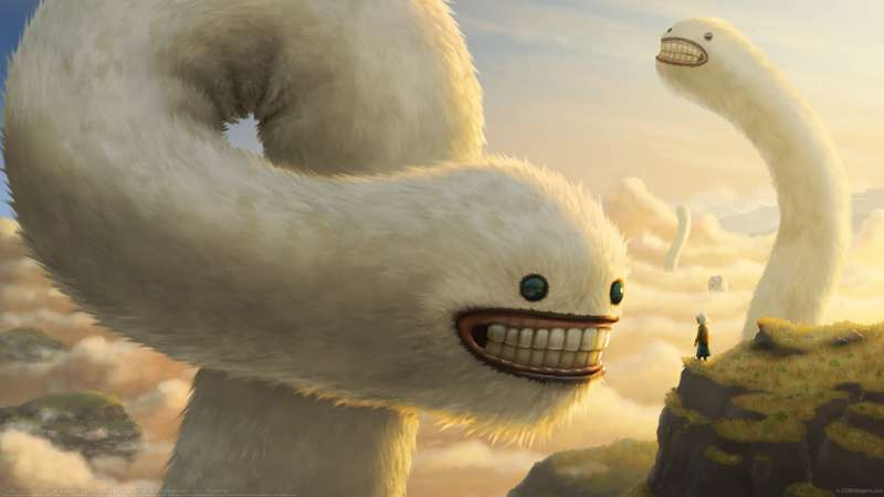 Fuzzy Cloud Worms wallpaper