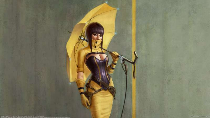 Yellow Umbrella wallpaper