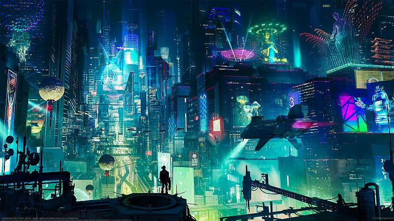 Cyberpunk City wallpaper or background