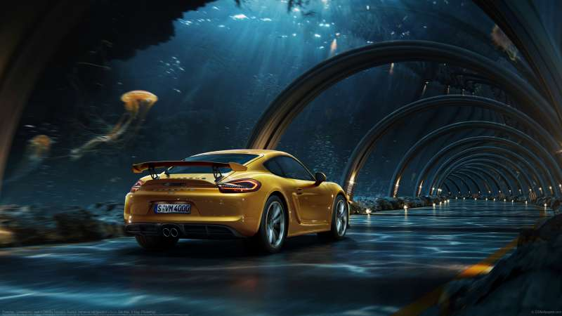 Porsche - Underwater road wallpaper or background