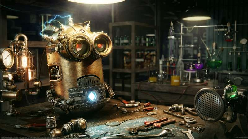 Steampunk Minion wallpaper