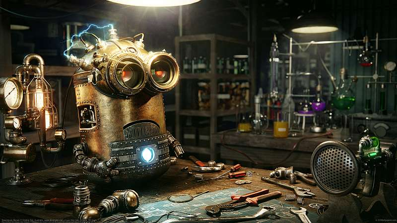 Steampunk Minion wallpaper or background