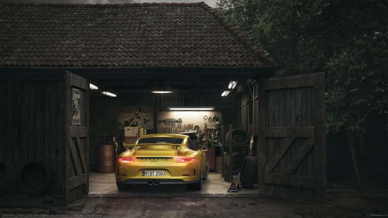 Porsche Barn wallpaper