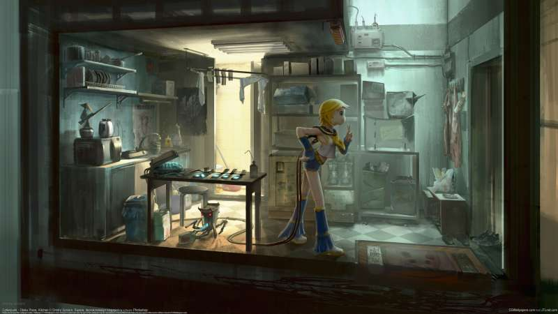 Cyberpunk - Otaku Place, Kitchen wallpaper