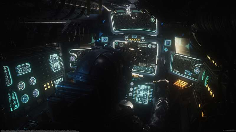 Military Space Cockpit wallpaper