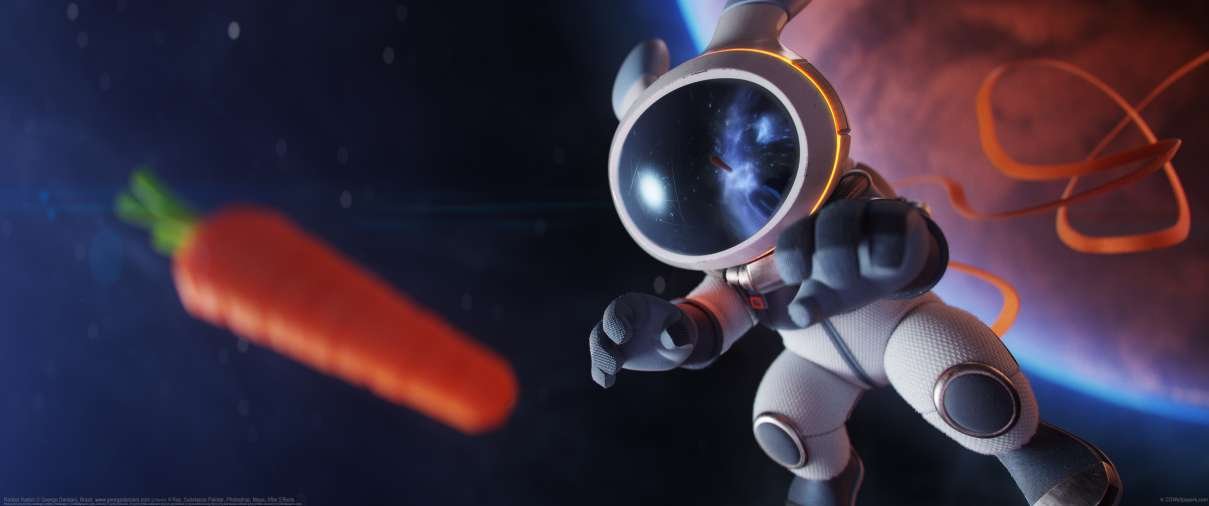 Rocket Rabbit ultrawide wallpaper