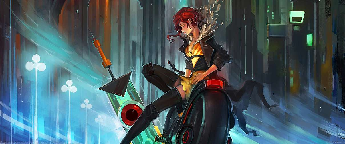 Transistor fan art ultrawide wallpaper