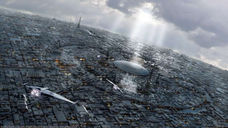 Coruscant in the Daylight wallpaper
