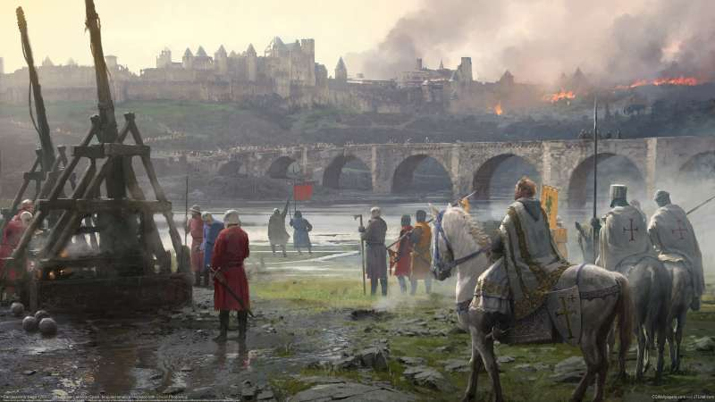 Carcassonne siege 1209 wallpaper