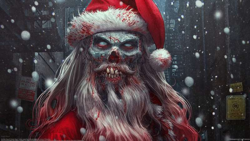 Zombie Claus wallpaper