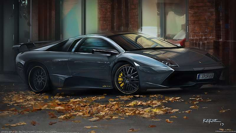 Lamborghini speed painting wallpaper or background