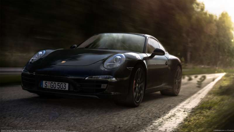 Porsche Carrera S - Black wallpaper