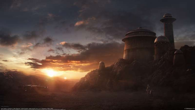 Hutt Castle on Tatooine wallpaper
