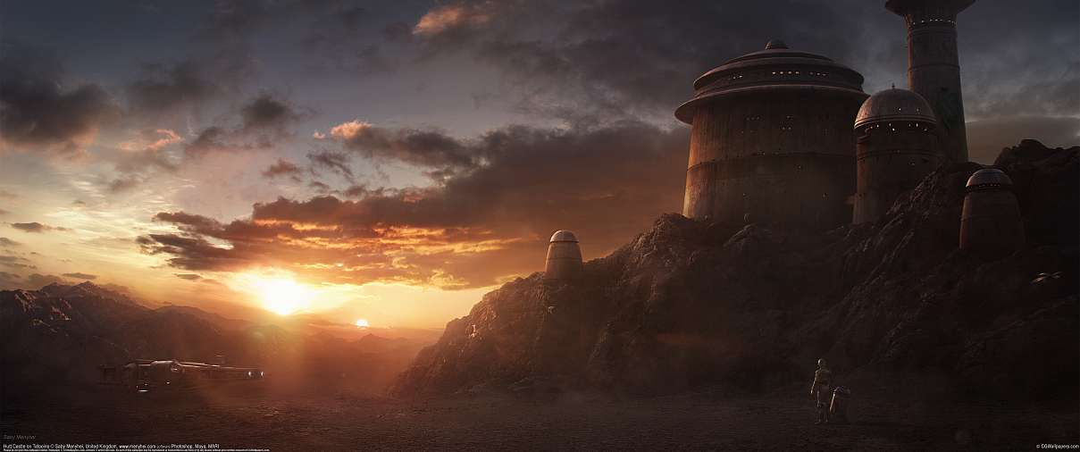 Hutt Castle on Tatooine ultrawide wallpaper