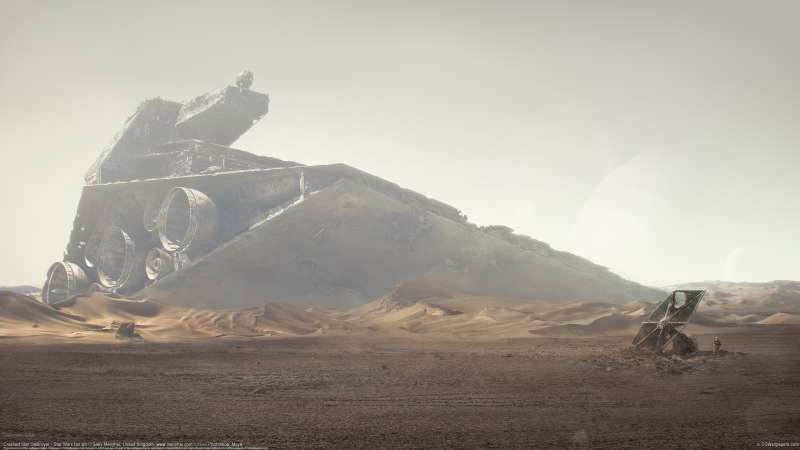 Crashed Star Destroyer - Star Wars fan art wallpaper