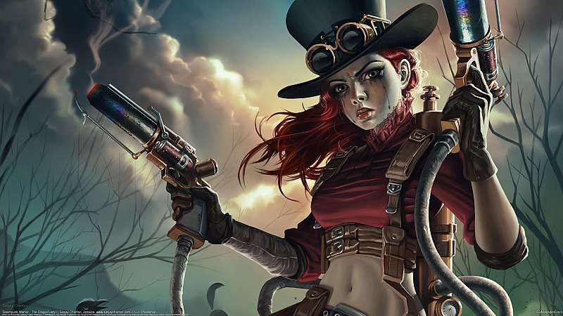 Steampunk Warrior - The Dragon Lady wallpaper or background