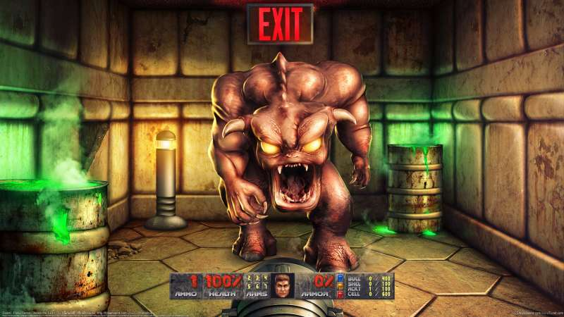 Doom - Pinky Demon Blocks the Exit wallpaper